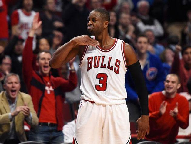 Dwyane Wade lets loose. (Getty Images)