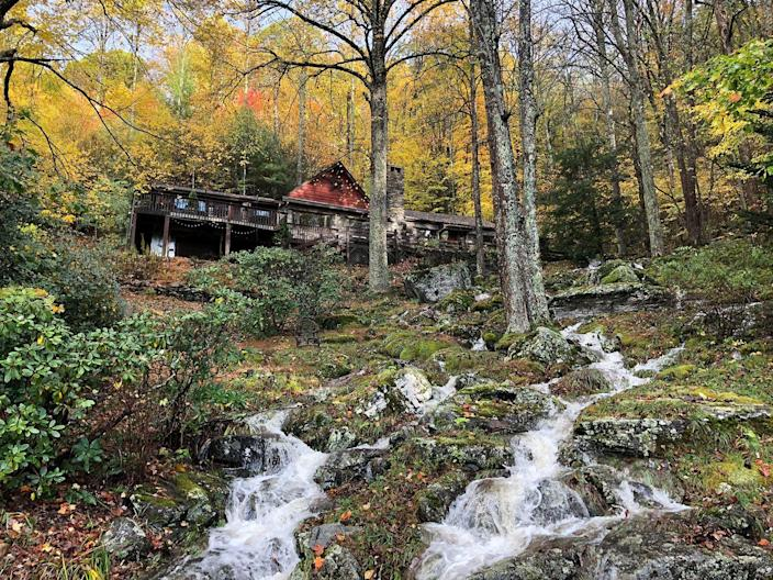 """<p><strong>Boone, North Carolina</strong></p><p>The interior is gorgeous, but the waterfalls outside of <strong><a href=""""https://gamekeeper-nc.com/"""" rel=""""nofollow noopener"""" target=""""_blank"""" data-ylk=""""slk:The Gamekeeper"""" class=""""link rapid-noclick-resp"""">The Gamekeeper</a></strong> are absolutely breathtaking. If you love game, this is the place to go. Setting it apart from the rest, this restaurant has elk, emu, boar and bison, among others. </p>"""