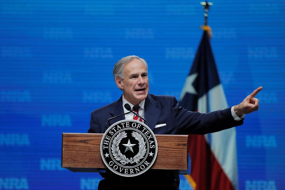 Texas Governor Greg Abbott is the latest Republican politician to attempt to ban critical race theory (REUTERS)