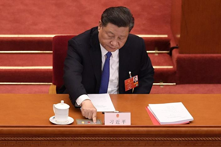 Chinese President Xi Jinping on May 28, 2020, in Beijing.