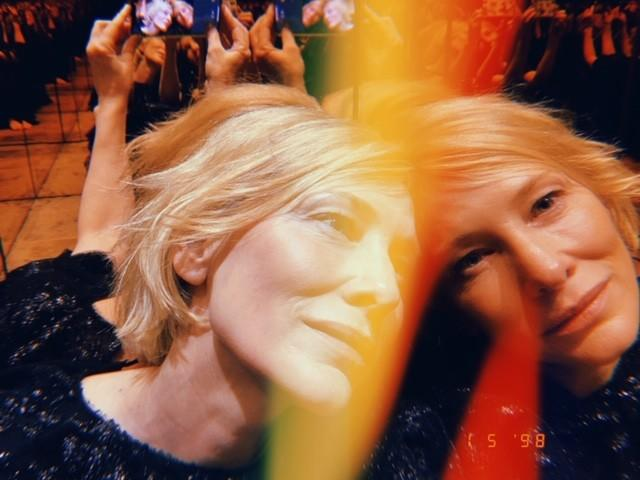 "Actress Cate Blanchett from ""Mrs. America,"" photographed for the Envelope Actress Roundtable using the Huji Photo App. CREDIT: Cate Blanchett"