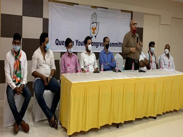 Congress leaders at Installation Programme of Quepem Block Youth Congress in Margao. (Photo/ANI)