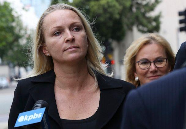 PHOTO: Margaret Hunter, wife of indicted Republican U.S. Rep. Duncan Hunter, arrives at federal courthouse in downtown San Diego on June 13, 2019. (John Gibbins/The San Diego Union-Tribune via AP)