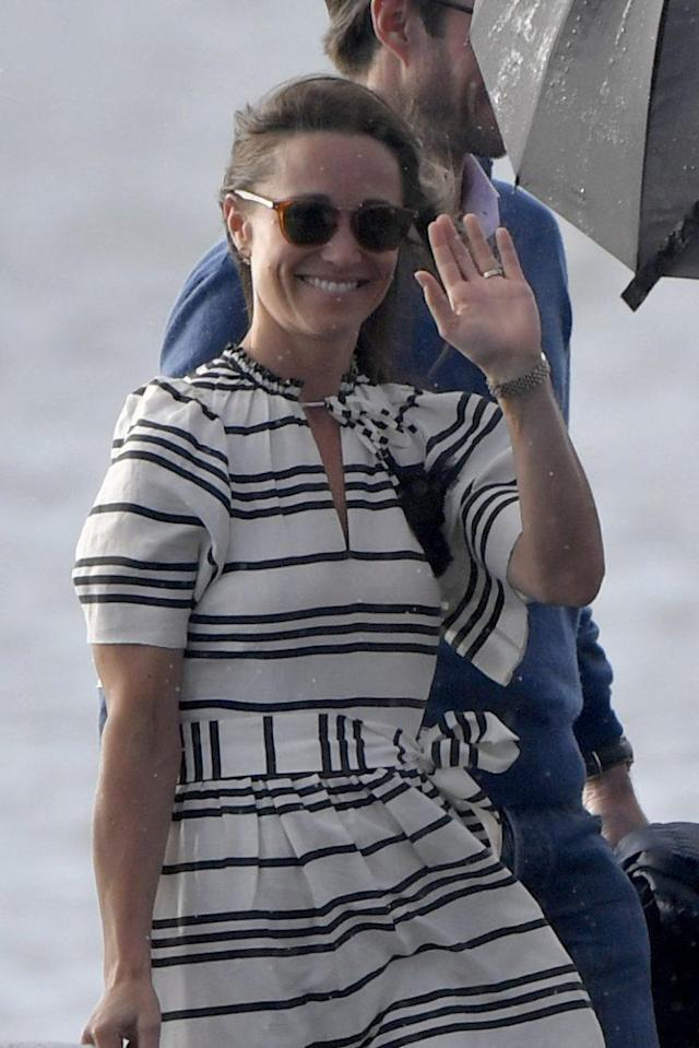 Pippa Middleton wearing a Kate Spade dress. (Photo: Getty Images)