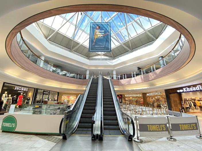 A deserted Brent Cross shopping centre is seen in London, as the spread of the coronavirus disease (COVID-19) continues, in London, Britain, March 23, 2020. REUTERS/Paul Childs