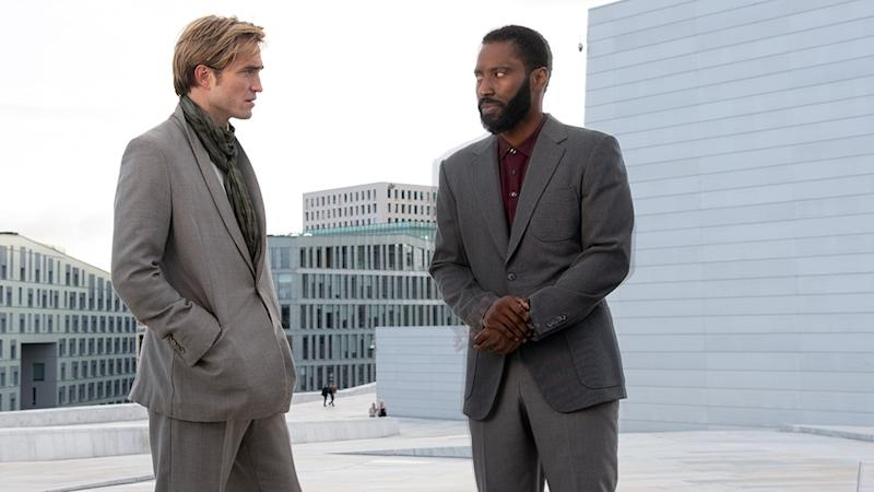 Robert Pattinson and John David Washington in 'Tenet' (Warner Bros.)