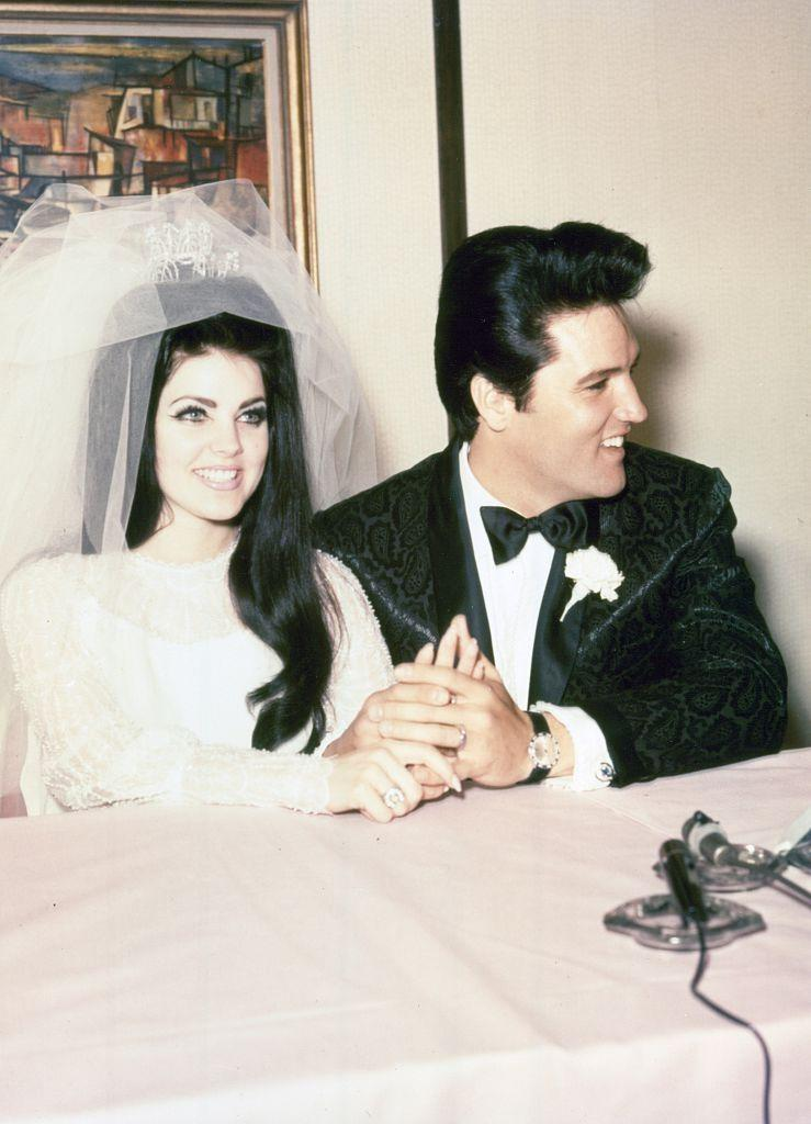 """<p>Priscilla Wagner first met Elvis Presley in 1959 when she was 14 years old. The two stayed in contact and eventually dated, <a href=""""http://people.com/music/elvis-presley-priscilla-wedding-anniversary-50-years/"""" rel=""""nofollow noopener"""" target=""""_blank"""" data-ylk=""""slk:getting married"""" class=""""link rapid-noclick-resp"""">getting married</a> on May 1, 1967 in Las Vegas. The couple had one child together, Lisa Marie, and eventually divorced in 1972 because Priscilla had fallen in love with her karate instructor. </p>"""