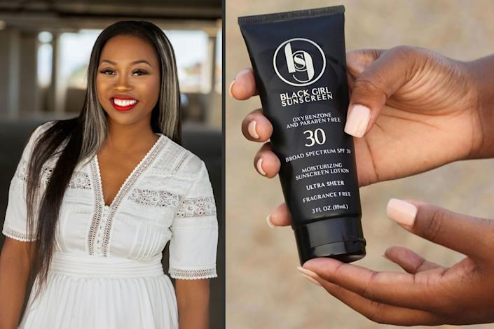 "Shontay Lundy is founder and creator of Black Girl Sunscreen. <span class=""copyright"">(Black Girl Sunscreen)</span>"