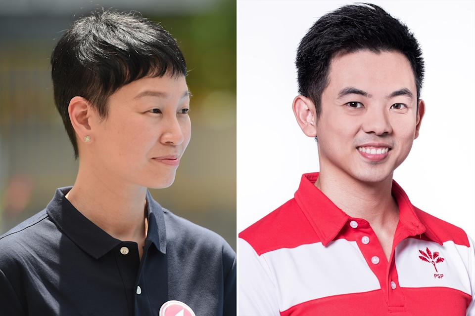 Michelle Lee (left) of Red Dot United and Terence Soon (right), from the Progress Singapore Party, have both resigned from their respective parties. (PHOTOS: Yahoo News Singapore / Facebook, Terence Soon)