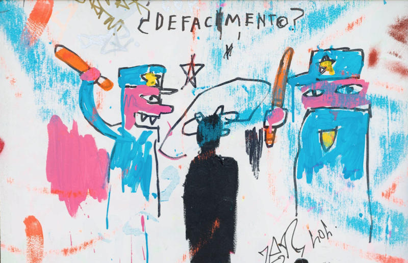 """Defacement (The Death of Michael Stewart),"" 1983. (Photo: Solomon R. Guggenheim Museum)"