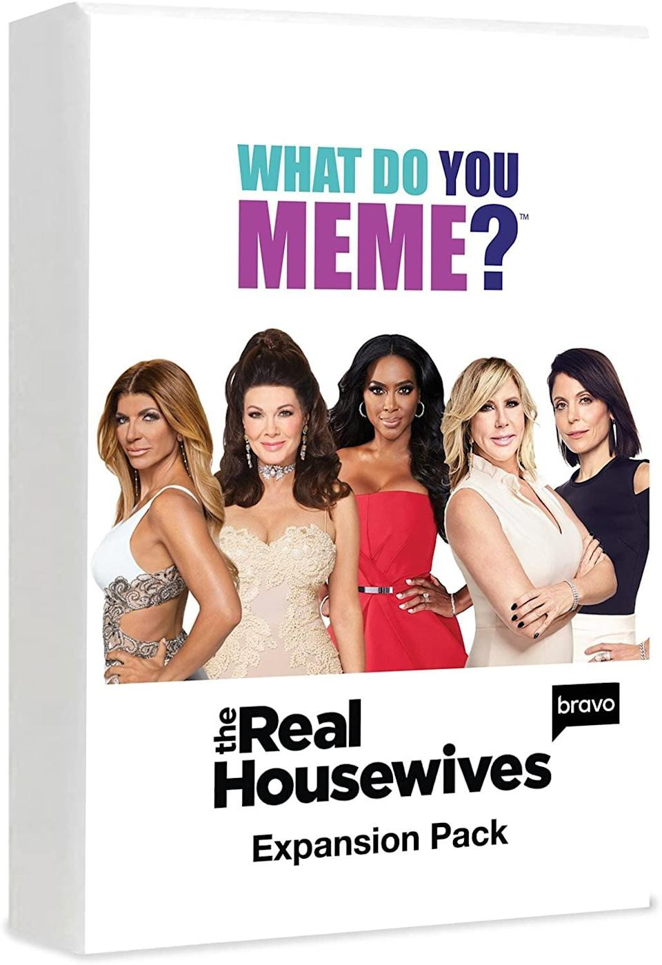 <p>The <span>What Do You Meme? Real Housewives Expansion Pack</span> ($13) is an amazing gift that all Real Housewives fans will enjoy.</p>