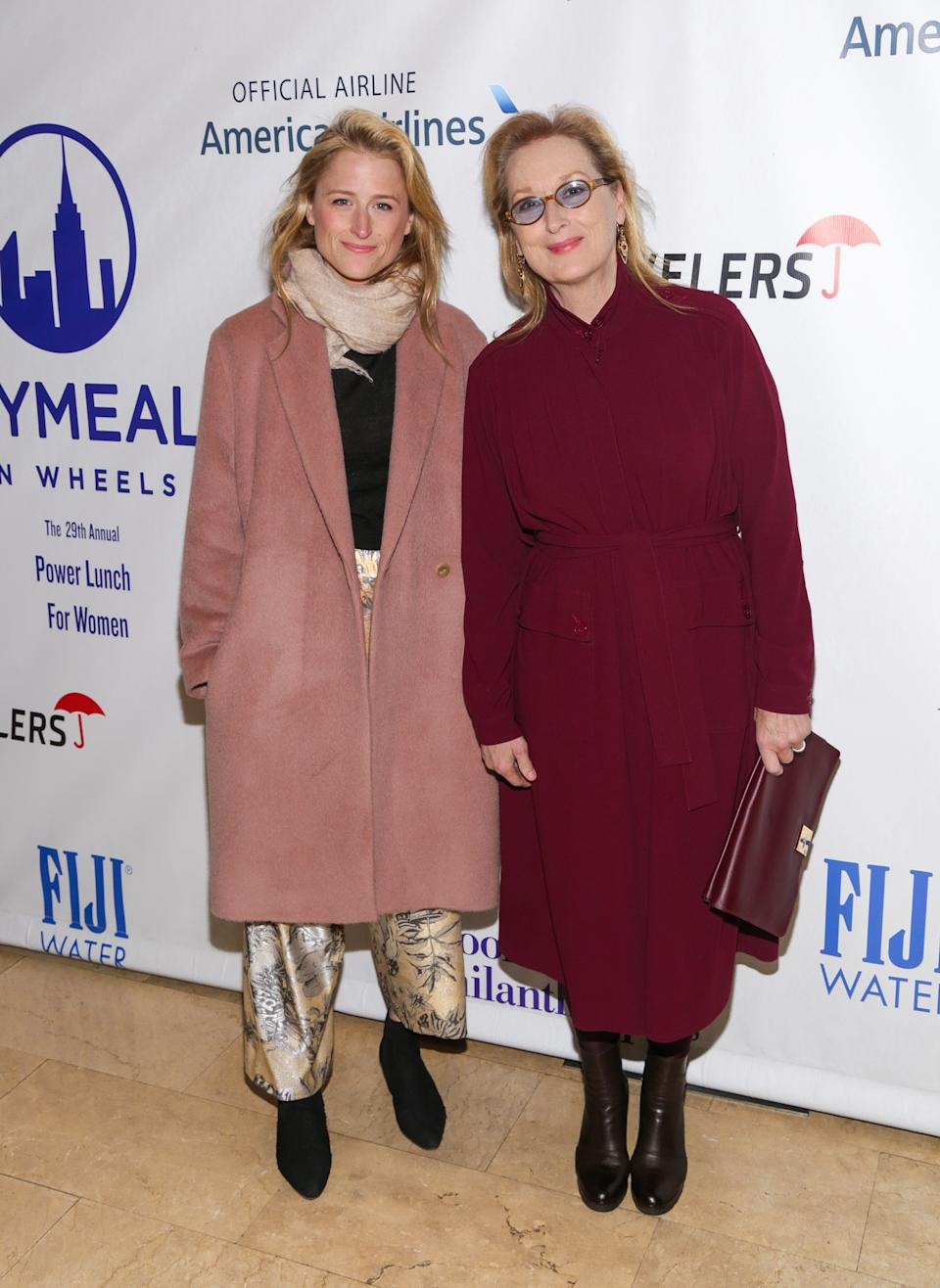 "Meryl Streep shared the screen with her lookalike daughter in the 2015 film, ""Ricki and The Flash."" <em>(Image via Getty Images)</em>"