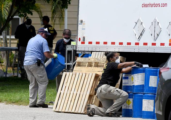 The FDA's Office of Criminal Investigations was on the scene where a Bradenton family who marketed a toxic bleaching agent as cure for COVID-19 and other serious diseases and conditions now faces federal criminal charges. They were seen removing large drums of some chemical from the home.