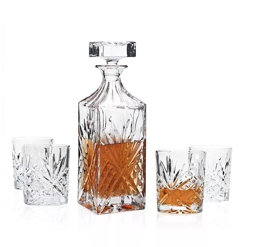 <p>If you know someone who loves drinking whiskey, get them this pretty <span>Godinger Dublin 5-Pc. Whiskey Set</span> ($60)</p>