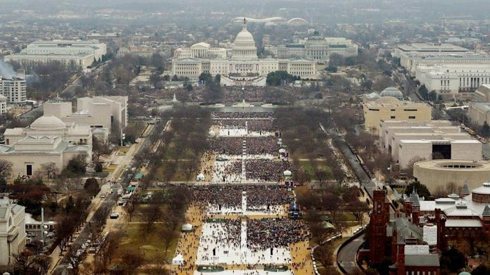Crowds at the 2017 inauguration