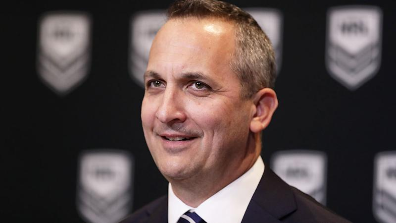 Pictured here, newly appointed NRL CEO Andrew Abdo.