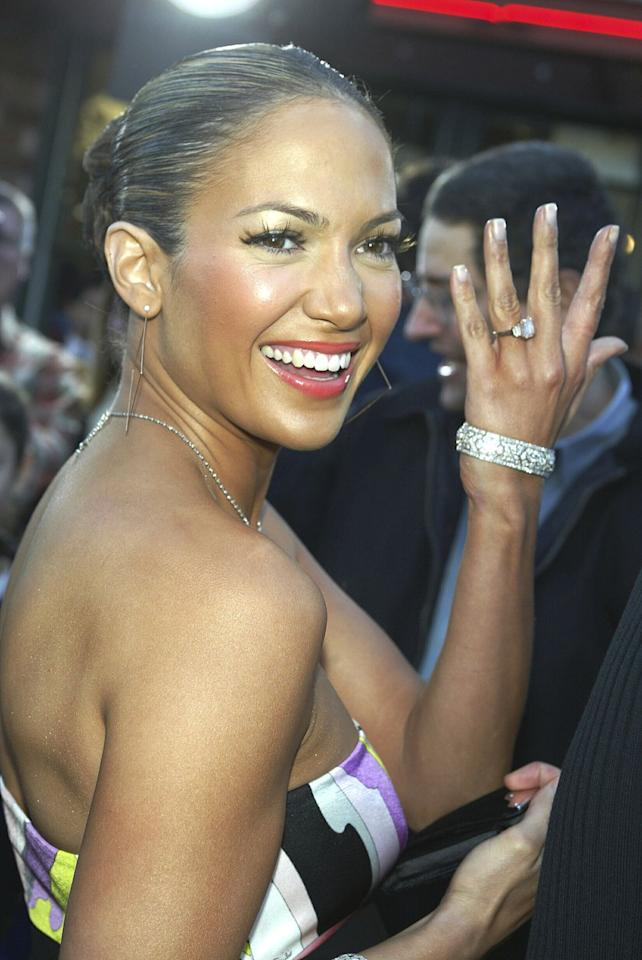 """<p>During the early 2000s, almost every headline surrounded around the whirlwind romance of Jennifer Lopez and Ben Affleck. However, nothing sparked such a tabloid frenzy as the 6.1-carat pink diamond engagement ring Affleck gave to Lopez when he proposed. The two never walked down the aisle together, but J.Lo still reminisces about the ring to this day, telling Apple Music host Zane Lowe in April 2020 she <a href=""""https://www.harpersbazaar.com/celebrity/latest/a32252484/jennifer-lopez-ben-affleck-engagement-ring/"""" target=""""_blank"""">""""loved getting it.""""</a></p>"""