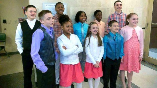 PHOTO: Christopher and Christina Sanders of Ohio adopted six children -- all siblings -- into their family, joining the five children the couple already had. (Christopher and Christina Sanders)
