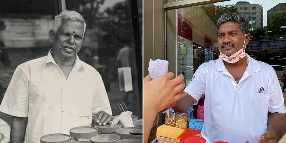 Amirthaalangaram Moorthy, 53, the last kacang puteh man in Singapore, inherited the stall from his father Nagappan Arumugam in 2014. (PHOTO: Dhany Osman/Yahoo News Singapore and Amirthaalangaram Moorthy)