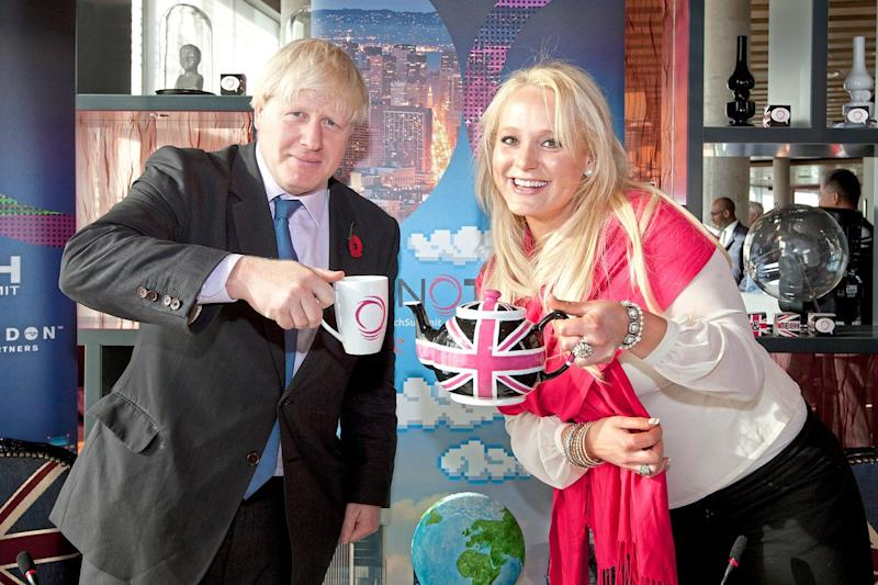 Boris Johnson with Jennifer Arcuri at a business event in London in October 2013 (Vicki Couchman)