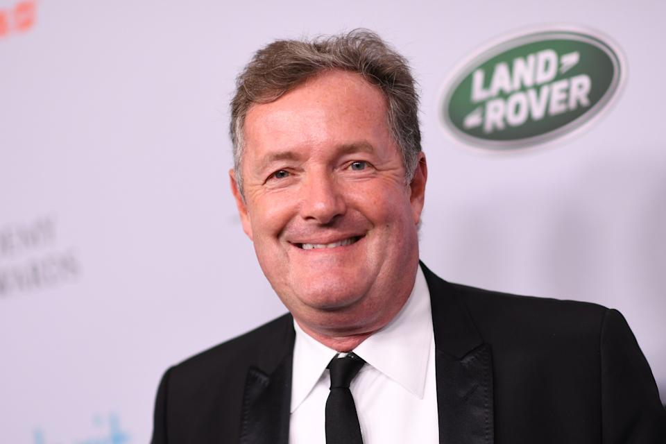 Piers Morgan arrives for the 2019 British Academy Britannia (BAFTA) awards at the Beverly Hilton hotel in Beverly Hills on October 25, 2019. (Photo by VALERIE MACON / AFP via Getty Images)