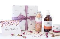 """<p>Over at vegan beauty giant Bloomtown, you can create bespoke hampers this Christmas. With organic body wash and Pink Himalyan salt scrubs making the line-up, we'll take one too please Santa… <em><a href=""""https://bloomtown.co.uk/collections/wrapped-gift-sets/products/bloomtown-palm-oil-free-ultimate-pampering-gift-set"""" rel=""""nofollow noopener"""" target=""""_blank"""" data-ylk=""""slk:Bloomtown"""" class=""""link rapid-noclick-resp"""">Bloomtown</a>, £29.70</em> </p>"""