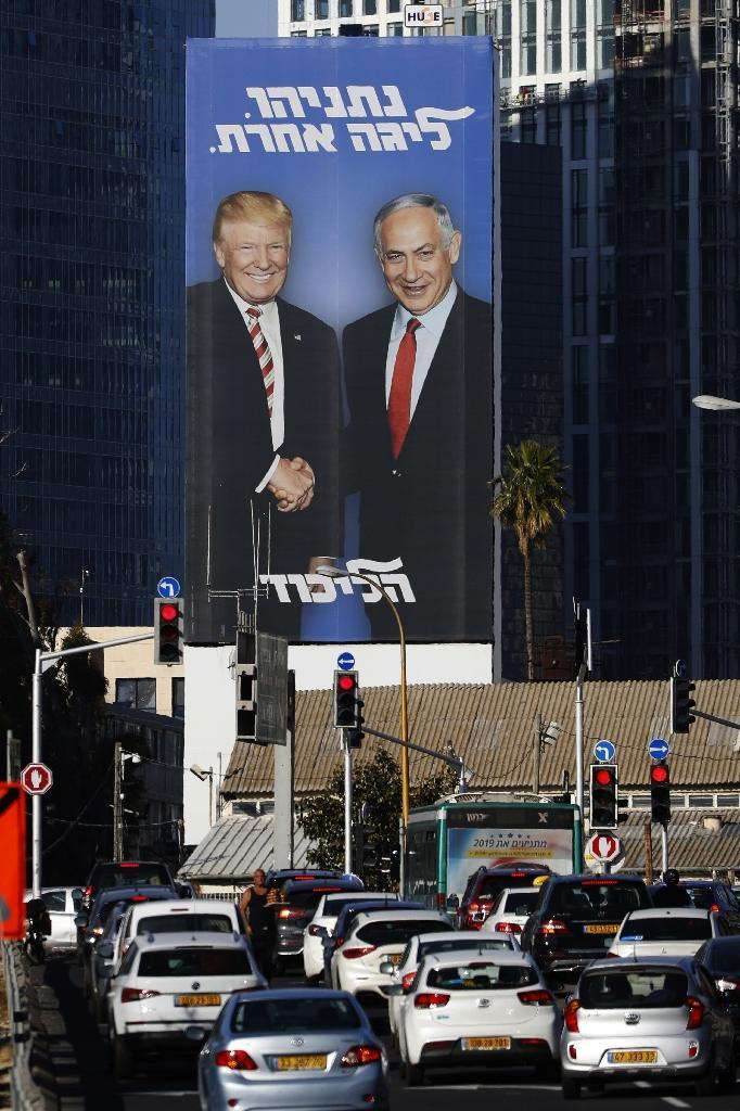 The Israeli premier has built a strong relationship with Trump, who delighted Israelis in December 2017 by unilaterally recognising Jerusalem as the Jewish state's capital (AFP Photo/JACK GUEZ)