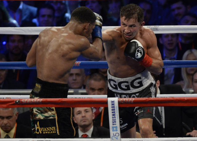 Gennady Golovkin's win over Daniel Jacobs, left, was one of The Garden's best fights this year. (Getty)