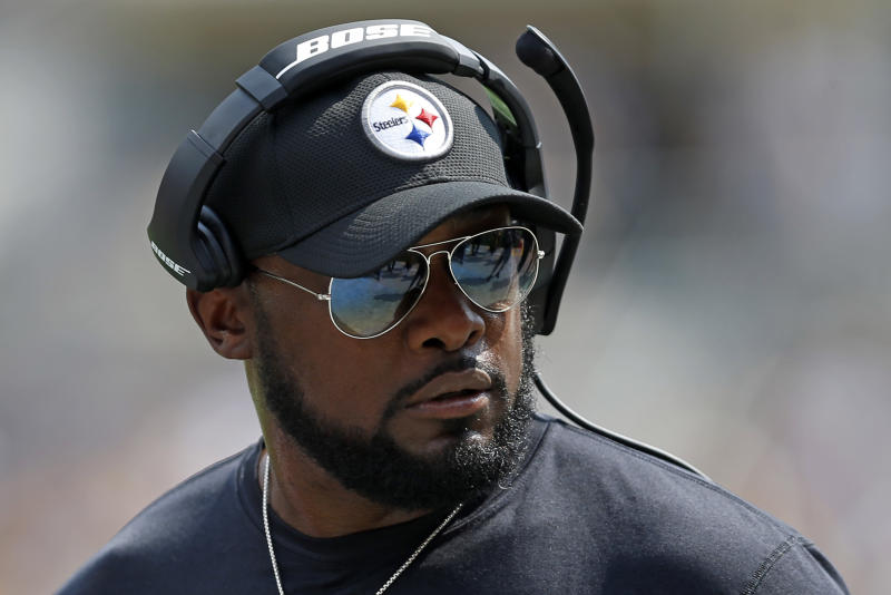 Mike Tomlin was the target of a racial slur from a Pittsburgh-area fire chief. (AP)