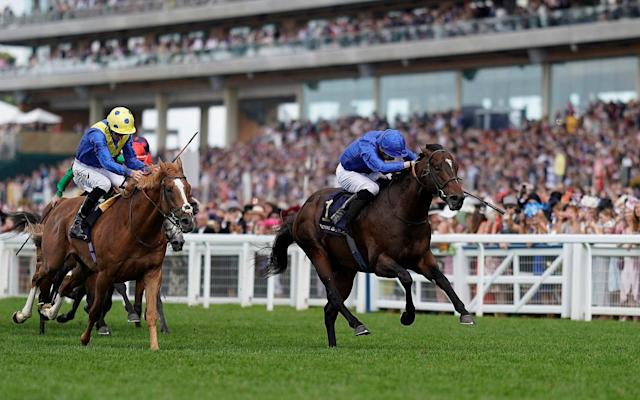 James Doyle riding Blue Point (blue) to win The Diamond Jubilee Stakes - Getty Images Europe