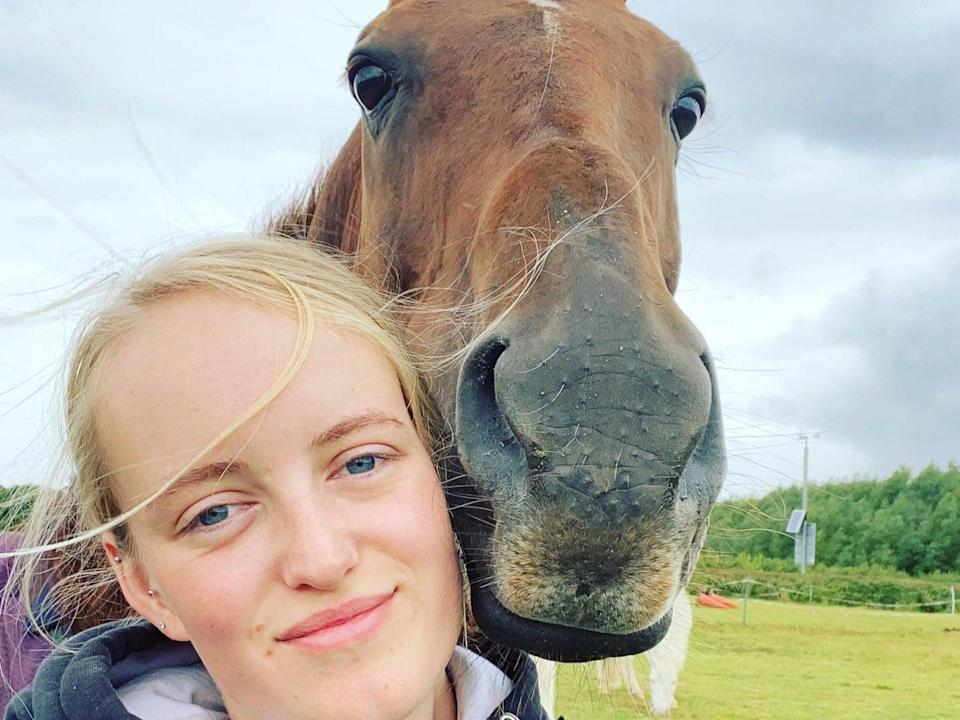 Keen horse rider Gracie Spinks, 23, was founded dead in a field in the Derbyshire village of Duckmanton (Gracie Spinks/Facebook)