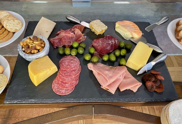 PHOTO: A platter of cheese and meats made by chef Marc Murphy in New York City, Oct. 8, 2019. (Will Linendoll/ABC News)
