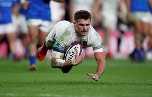 Rugby Union - Autumn Internationals - England vs Samoa - Twickenham Stadium, London, Britain - November 25, 2017 England's Henry Slade scores a try Action Images via Reuters/Paul Childs TPX IMAGES OF THE DAY