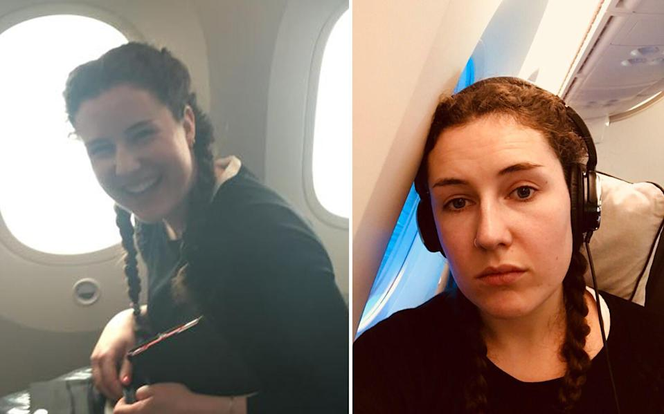 Before and after: Just boarded and just landed