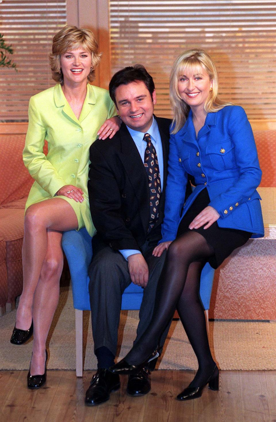 Anthea Turner (left) with Eamonn Holmes and Fiona Phillips.  (Photo by Neil Munns - PA Images/PA Images via Getty Images)