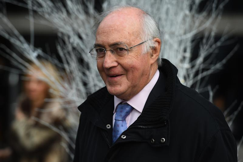 Lord Michael Howard leaves the Park Plaza Hotel in London, where Prime Minister Theresa May was attending the 'Conservative Friends Of Israel' annual lunch. (Photo by PA Images via Getty Images)