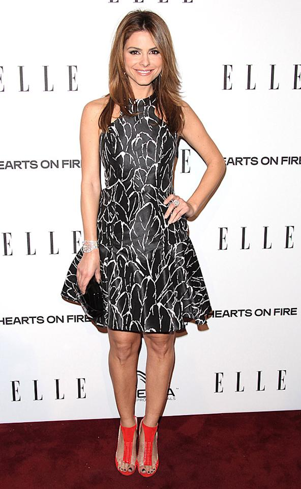 WEST HOLLYWOOD, CA - JANUARY 24:  Maria Menounos attends the ELLE Women in Television Celebration presented by Hearts on Fire Diamonds and Wella Professionals held at Soho House on January 24, 2013 in West Hollywood, California.  (Photo by Tommaso Boddi/Getty Images)