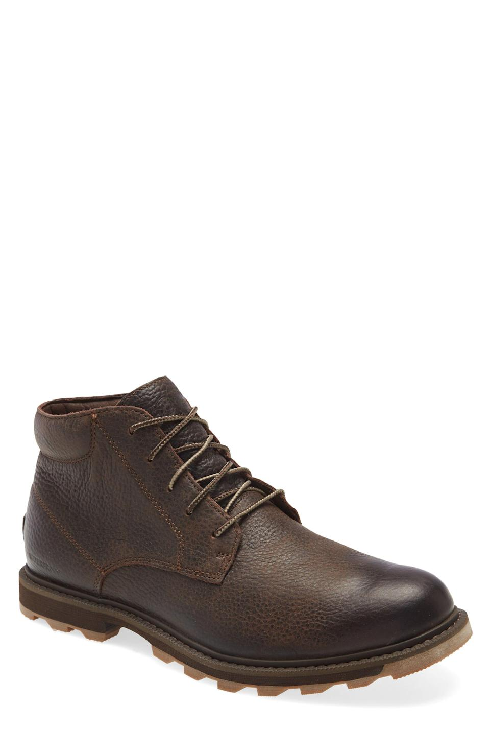 """<p><strong>SOREL</strong></p><p>nordstrom.com</p><p><strong>$109.90</strong></p><p><a href=""""https://go.redirectingat.com?id=74968X1596630&url=https%3A%2F%2Fwww.nordstrom.com%2Fs%2Fsorel-madson-ii-waterproof-chukka-boot-men%2F5524899&sref=https%3A%2F%2Fwww.menshealth.com%2Fstyle%2Fg33510339%2Fnordstrom-anniversary-sale-2020%2F"""" rel=""""nofollow noopener"""" target=""""_blank"""" data-ylk=""""slk:Shop Now"""" class=""""link rapid-noclick-resp"""">Shop Now</a></p><p><strong>$175 $109.90 (38% off)</strong></p><p>Fall will be here before you know it, so trade in your sandals for this cool pair of chukkas. This water-proof style is perfect for running errands and socially distanced hikes.</p>"""