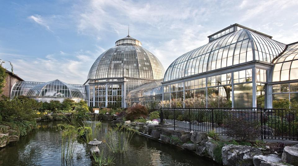 Though architect Albert Kahn was best known for his concrete constructions, he also designed the Belle Isle Conservatory, formally called the Anna Scripps Whitcomb Conservatory, in Detroit. It was completed in 1904.