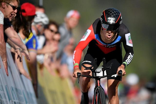 Australia's Richie Porte of Team BMC did enough in the individual time trial to hold on and win the Tour de Suisse on Sunday (AFP Photo/Fabrice COFFRINI)