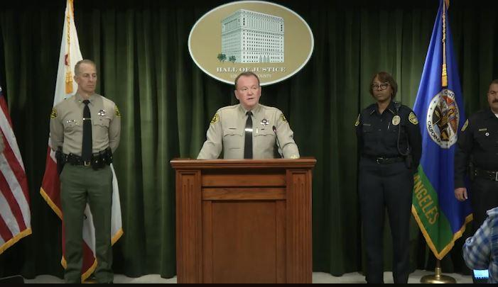teacher Los Angeles County Sheriff Jim McDonnell