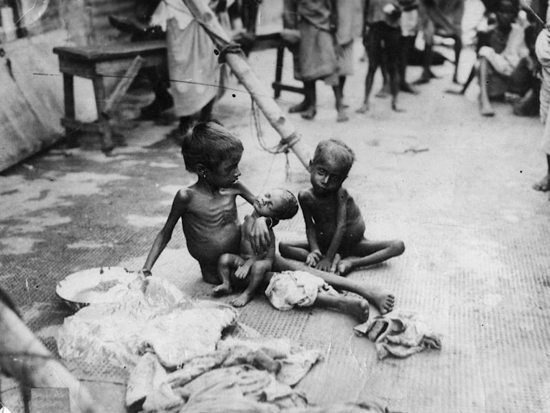 Starving children in India, 1945