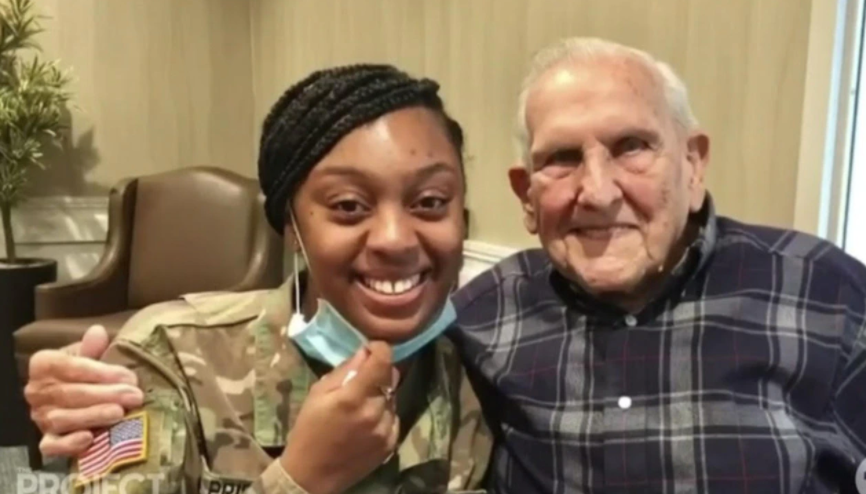 the project meeting between veteran frank and DeShawna