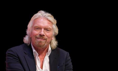 FILE PHOTO: Virgin Group founder Branson speaks at the Institute of Directors annual convention in London