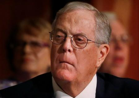 FILE PHOTO: David Koch, executive vice president of Koch Industries, attends an Economic Club of New York event in New York