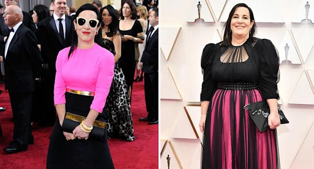 The 'Once Upon a Time in Hollywood' costume designer repurposed a gown she first wore for the 2012 Oscars at last night's ceremony. (Getty Images)