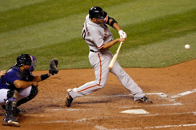 Anyone else think it would be interesting to see Madison Bumgarner, a pitcher, in the Home Run Derby? (Getty Images)