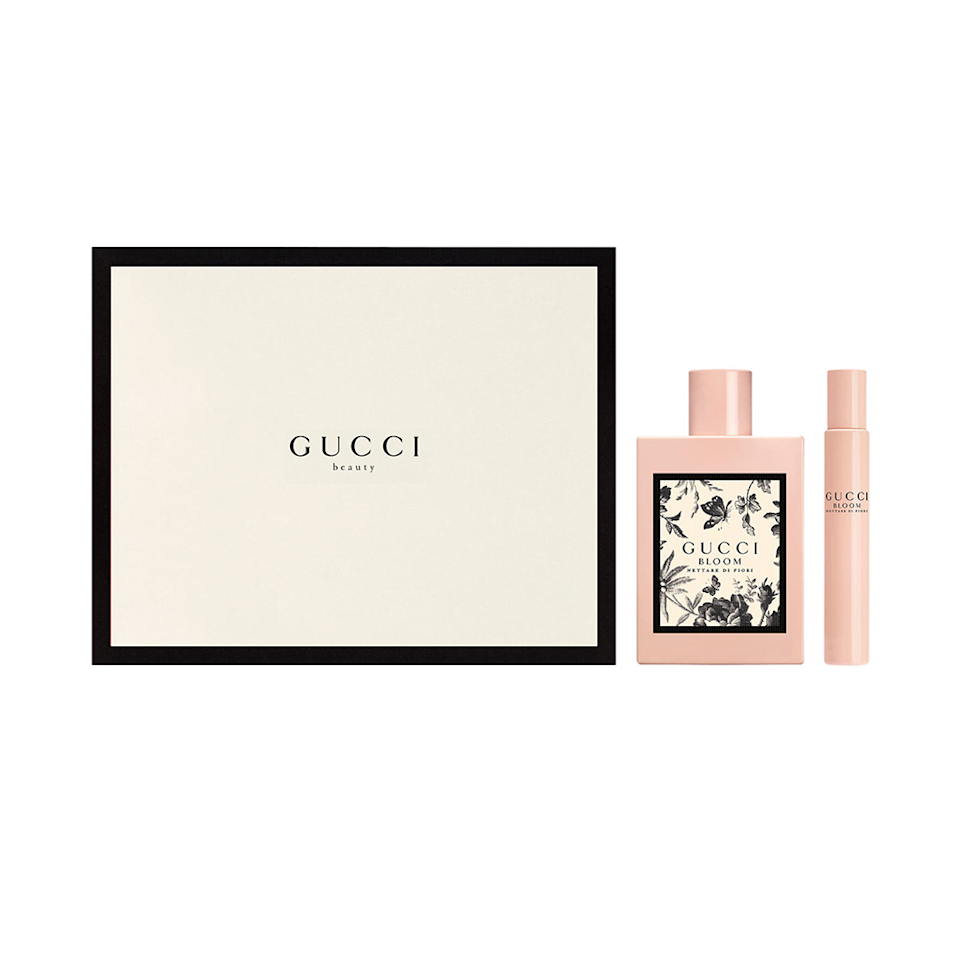 """<a href=""""https://www.allure.com/story/gucci-bloom-nettare-di-fiori-fragrance-florence-essay?mbid=synd_yahoo_rss"""" rel=""""nofollow noopener"""" target=""""_blank"""" data-ylk=""""slk:Gucci's Bloom Nettare di Fiori scent"""" class=""""link rapid-noclick-resp"""">Gucci's Bloom Nettare di Fiori scent</a> – which is inspired by Florence, Italy's rich history and vibrant florals – is sultry, sophisticated, and slightly mysterious. That's because it combines notes of ginger and rose with a woody, earthy base of musk and patchouli. Now's a great time to get yourself a two-piece Eau de Parfum Intense Set (one full-size fragrance and a roll-on) while it's nearly $80 off. $179, Nordstrom. <a href=""""https://www.nordstrom.com/s/gucci-bloom-nettare-di-fiori-eau-de-parfum-intense-set-179-value/5573840"""" rel=""""nofollow noopener"""" target=""""_blank"""" data-ylk=""""slk:Get it now!"""" class=""""link rapid-noclick-resp"""">Get it now!</a>"""
