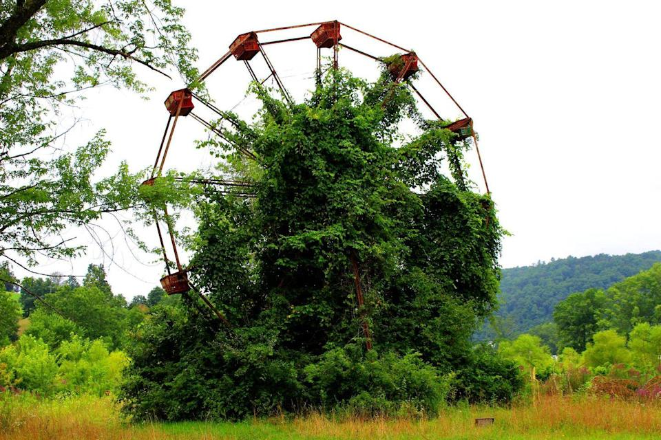 """<p><strong>Lake Shawnee Amusement Park - Rock, WV</strong></p><p>Deep in Mercer County, West Virginia sits an abandoned amusement park with a dark and disturbing history. The park closed in 1966, not long after the death of two young visitors occurred on the property. But even before the rides began to collect dust, <a href=""""https://www.nydailynews.com/news/national/abandoned-west-virginia-amusement-park-bloody-history-article-1.1497567"""" rel=""""nofollow noopener"""" target=""""_blank"""" data-ylk=""""slk:tragedy cursed the land"""" class=""""link rapid-noclick-resp"""">tragedy cursed the land</a>. Several other deadly accidents happened on the property, marking the grounds with ghostly legends.<br></p><p>Photo: Facebook/<a href=""""https://www.facebook.com/visitmercercounty/photos/a.1054524481272068/1829222340468941/?type=3&theater"""" rel=""""nofollow noopener"""" target=""""_blank"""" data-ylk=""""slk:Visit Mercer County, WV"""" class=""""link rapid-noclick-resp"""">Visit Mercer County, WV</a></p>"""
