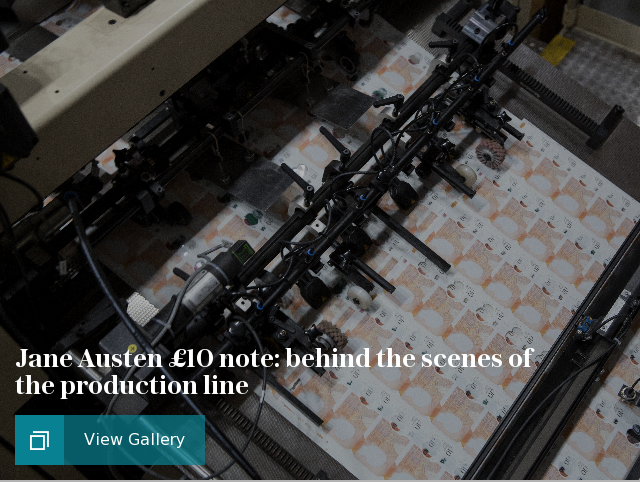 Jane Austen £10 note: behind the scenes of the production line, in pictures